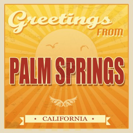 Vintage Palm Springs, California poster
