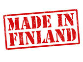 Made in Finland grunge rubber stamp on white vector illustration