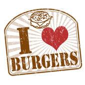 I love burgers stamp