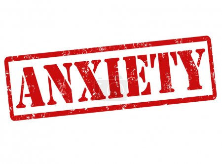 Illustration for Anxiety grunge rubber stamp on white, vector illustration - Royalty Free Image