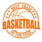 Basketball grunge rubber stamp on white vector illustration