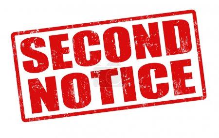 Illustration pour Deuxième avis timbre caoutchouc grunge sur blanc, illustration vectorielle - image libre de droit