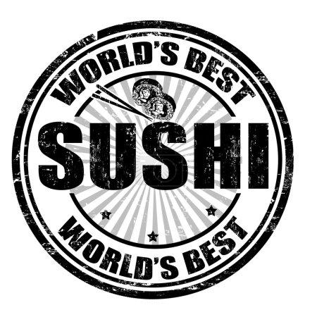 Sushi stamp