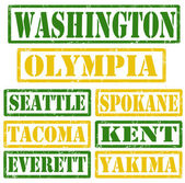 Washington Cities stamps