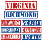 Virginia Cities stamps