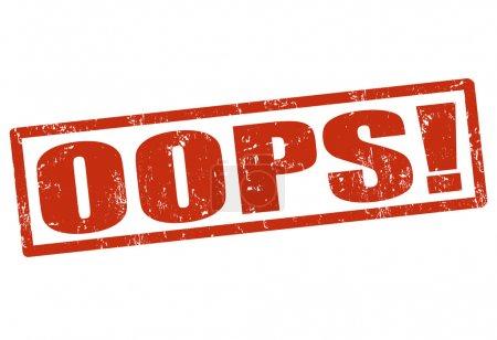 Illustration pour Oups ! timbre en caoutchouc grunge sur blanc, illustration vectorielle - image libre de droit