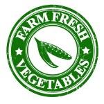 Fresh green peas vegetable grunge rubber stamp or ...