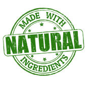 Made with natural ingredients grunge rubber stamp vector illustration