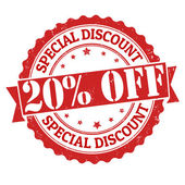 Special discount 20 off stamp