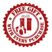 Free gift with every purchase stamp