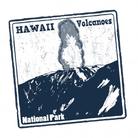 Hawaii Volcanoes stamp