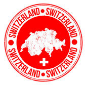 Grunge rubber stamp with map and the word Switzerland written inside vector illustration