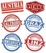 Austria cities stamps set