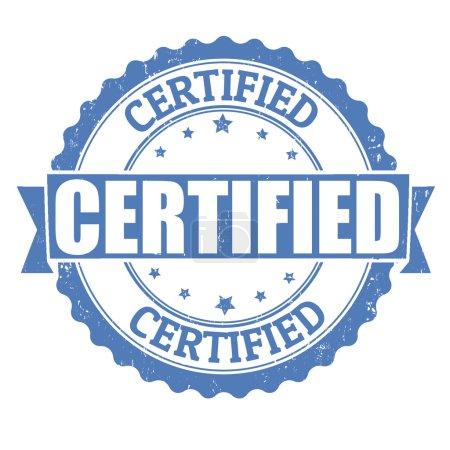 Illustration for Certified grunge rubber stamp on white, vector illustration - Royalty Free Image