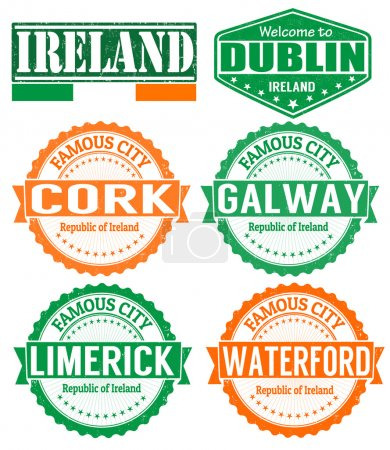 Ireland cities stamps