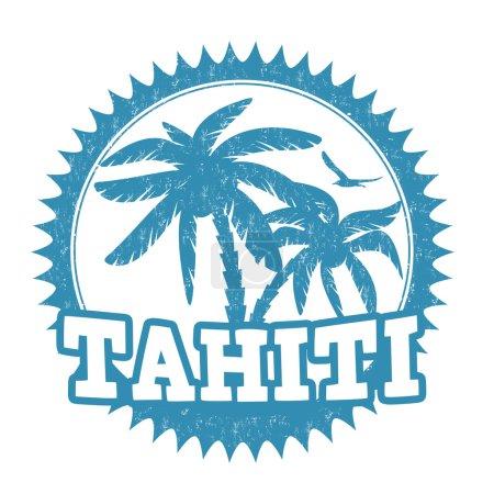 Tahiti stamp