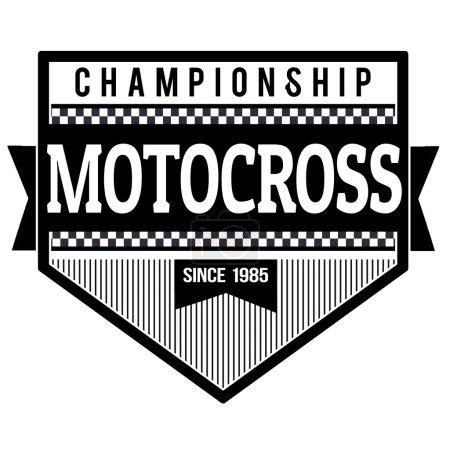 Motocross championship label or stamp