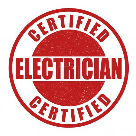 Certified electrician stamp