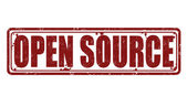 Open Source grunge rubber stamp on white vector illustration