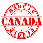 Made in Canada grunge rubber stamp on white vector illustration