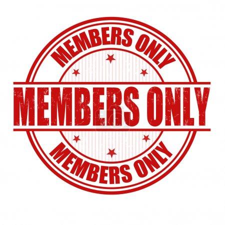 Timbre réservé aux membres