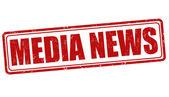 Media News grunge rubber stamp on white vector illustration