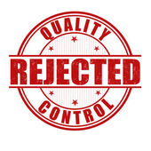 Quality control rejected stamp