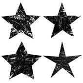 Grunge stars on white background vector illustration