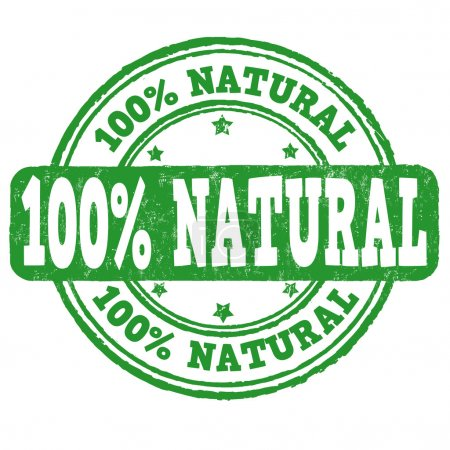 100 percent natural stamp