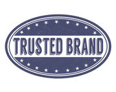 Trusted brand grunge rubber stamp on white vector illustration