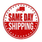 Same day shipping grunge rubber stamp on white vector illustration