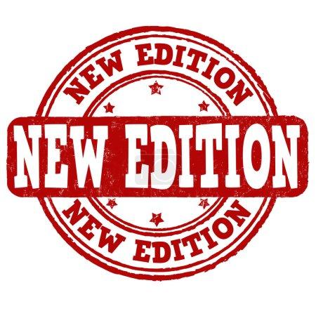 Illustration pour Nouvelle édition timbre caoutchouc grunge sur blanc, illustration vectorielle - image libre de droit
