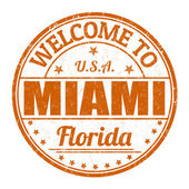 Welcome to Miami grunge rubber stamp on white background vector illustration