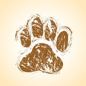 Dog paws background