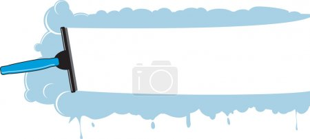 Illustration for An abstract window cleaning background - Royalty Free Image
