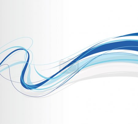 Illustration for A swirling abstract blue lines - Royalty Free Image