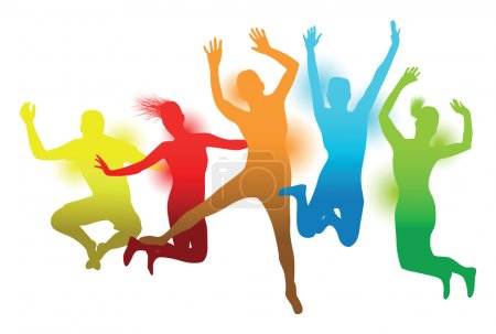 Illustration for Colourful jumping - Royalty Free Image