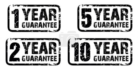 Illustration for Set of guarantee stamps - Royalty Free Image