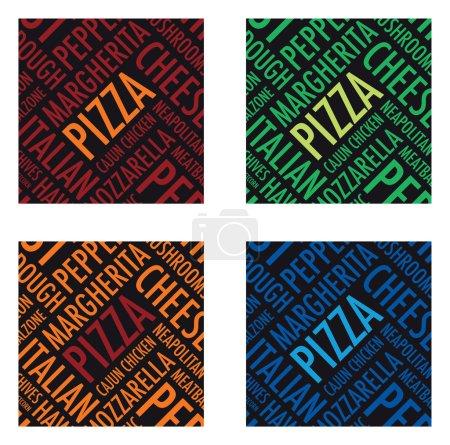 A square pizza background