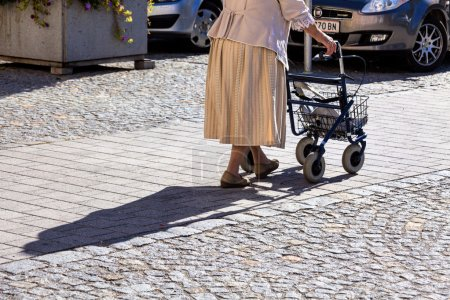 Woman with a walker
