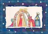 Christmas Nativity scene and the Three Kings.
