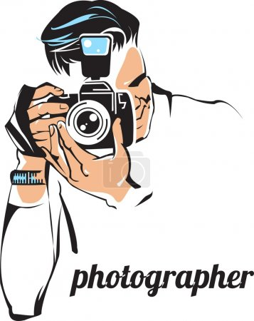 Illustration for Photographer - Royalty Free Image