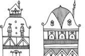 Vector illustration of facades