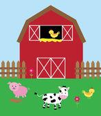Cute little barnyard scene