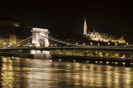 Chain Bridge in Budapest Hungary