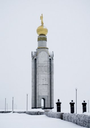 Bell tower on the site of a tank battle of Prokhorovka, Belgorod
