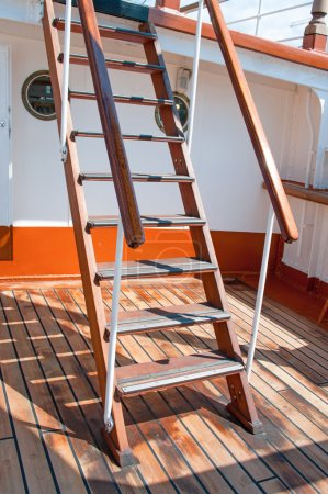 Old wooden trap on ship