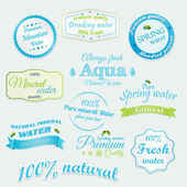 Drinking and Mineral Water Labels and stickers Vector