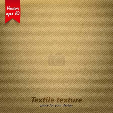 Illustration for Brown Fabric Texture. Vector - Royalty Free Image