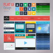 UI elements for web and mobile Flat design Vector